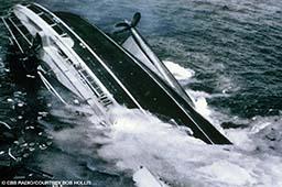 Photo of the SS Andrea Doria sinking