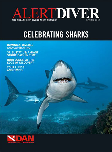 Cover of the Alert Diver Spring 2017 issue