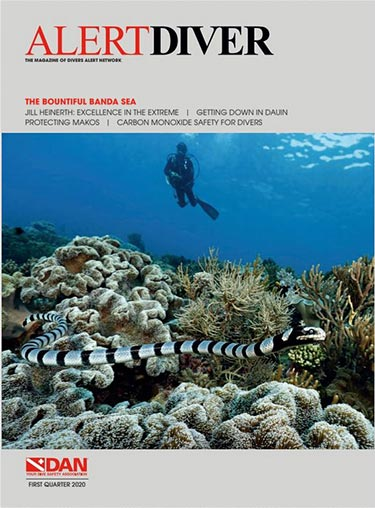 Cover of the Alert Diver First Quarter 2020 issue