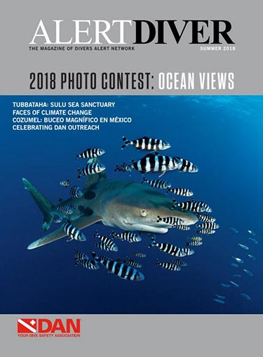 Cover of the Alert Diver Summer 2018 issue