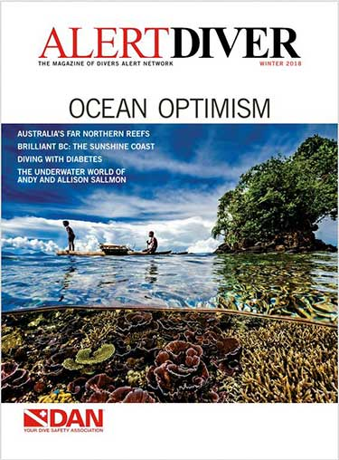 Cover of the Alert Diver Winter 2018 issue