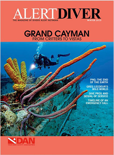 Cover of the Alert Diver Winter 2019 issue
