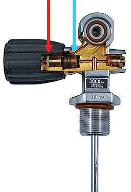 A diagram illustrates the valve stem seal and the valve seal.
