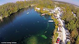 Aerial shot of Mermet Springs