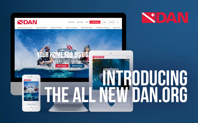 The all-new DAN.org website shows a computer, tablet and mobile phone.