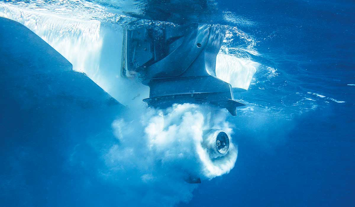 Submerged propeller whirls