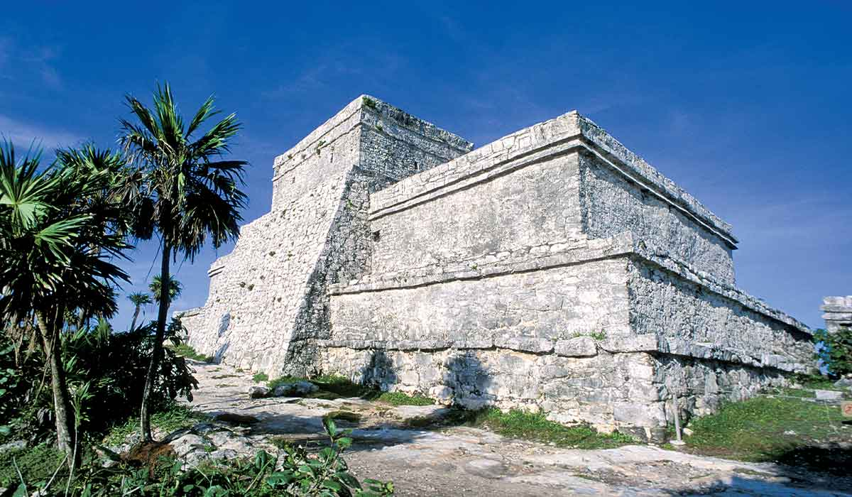 Ancient Mayan temple in the jungle