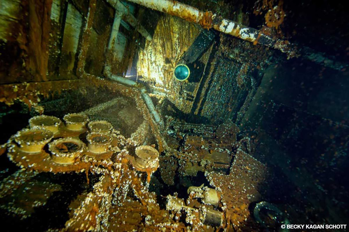 Engine room of the Norman at Thunder Bay