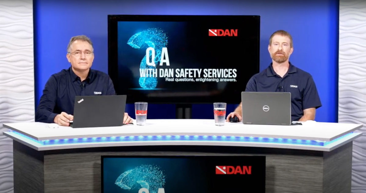 DAN live events and webinars for dive safety education